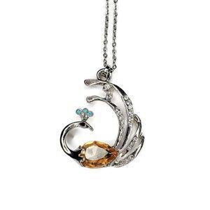 Rhinestone Peacock Necklace